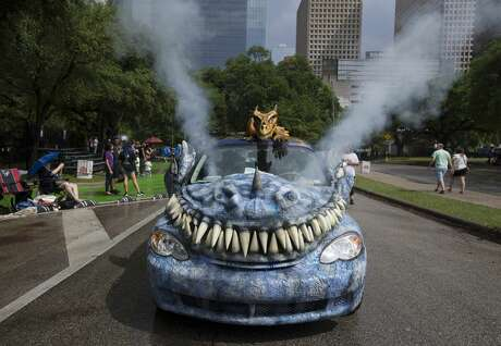 More than 250 cars participate the 32nd  Annual Houston Art Car Parade on Saturday, April 13, 2019, in downtown Houston.