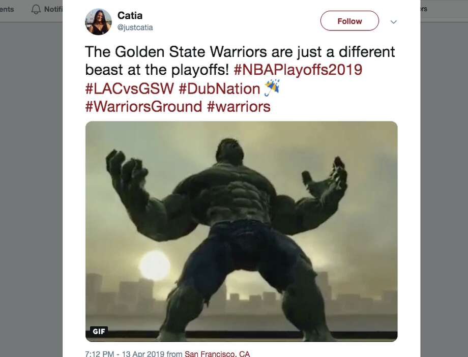 "Basketball fans and fans of the Golden State Warriors took to the social media to proclaim the arrival of the ""Playoff Warriors"" after Game 1 of the Warriors' series against the Los Angeles Clippers. Photo: Screenshot Via Twitter"
