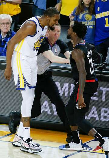 best service 07822 6cb17 1of18Golden State Warriors Kevin Durant and Los Angeles Clippers Patrick  Beverley share words and get a double technical and are ejected in the  fourth ...