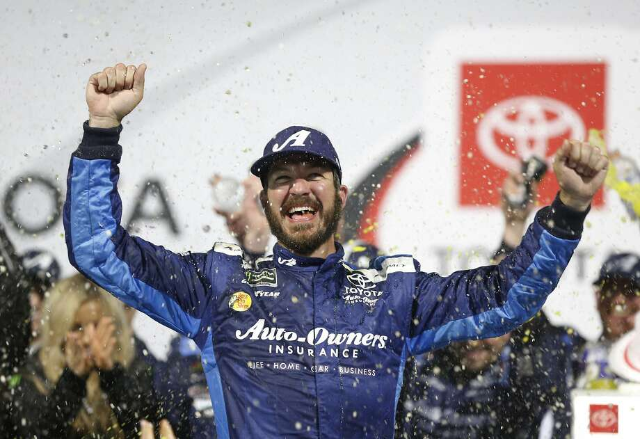 Martin Truex Jr., one of four Joe Gibbs Racing drivers in the Cup Series playoffs, is trying to win a second title in three years. Kyle Busch, Denny Hamlin and Erik Jones also have a shot. Photo: Steve Helber / Associated Press