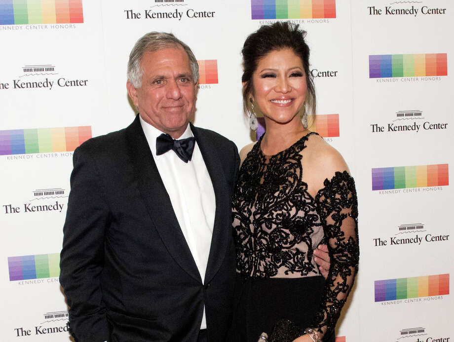 FILE - In this Dec. 2, 2017 file photo, Les Moonves, left, and his wife Julie Chen arrive for the Kennedy Center Honors gala dinner in Washington. Chen was absent from her talk CBS show, ?The Talk? a day after a new round of sexual misconduct allegations against Moonves brought the departure of the CBS chief executive. In what was supposed to be a celebratory season premiere Monday, Sept. 10, 2018, the show's four other panelists walked out somberly without Chen, who acts as host and moderator. Sharon Osbourne choked back tears as she announced Chen would be taking time off to be with her family, and expressed support for her co-star and friend. (AP Photo/Kevin Wolf, File) Photo: Kevin Wolf / AP Images