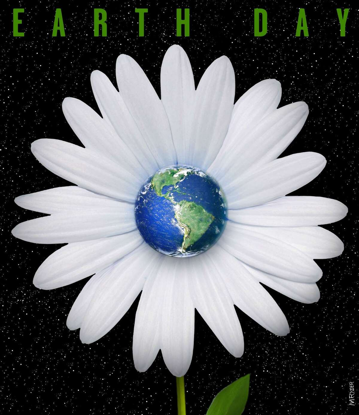 This artwork by M. Ryder refers to Earth Day, April 22.