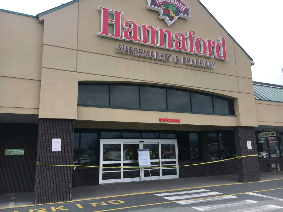 The Hannaford supermarket on Central Avenue in Albany was closed Sunday after a reported fire. The store is hoping to re-open Monday at 7 a.m. if possible.
