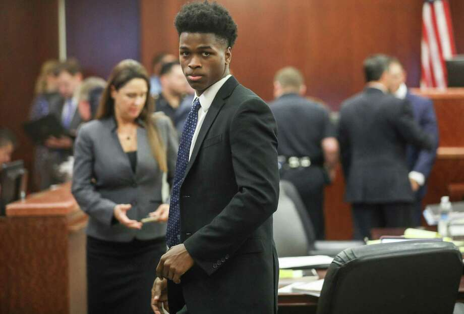 Antonio Armstrong Jr., who faces capital murder charges for allegedly murdering his parents in their Bellaire home in 2016., seen here in court for a hearing at Harris County Criminal Justice Center on Monday, Sept. 17, 2018, in Houston. 