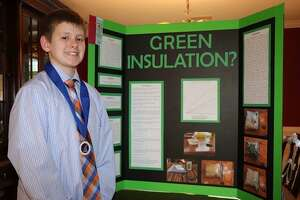 Tyler Fahey, a seventh-grader, was among the students at St. Gregory the Great School in Danbury who were awarded at the CT Science and Engineering Fair.