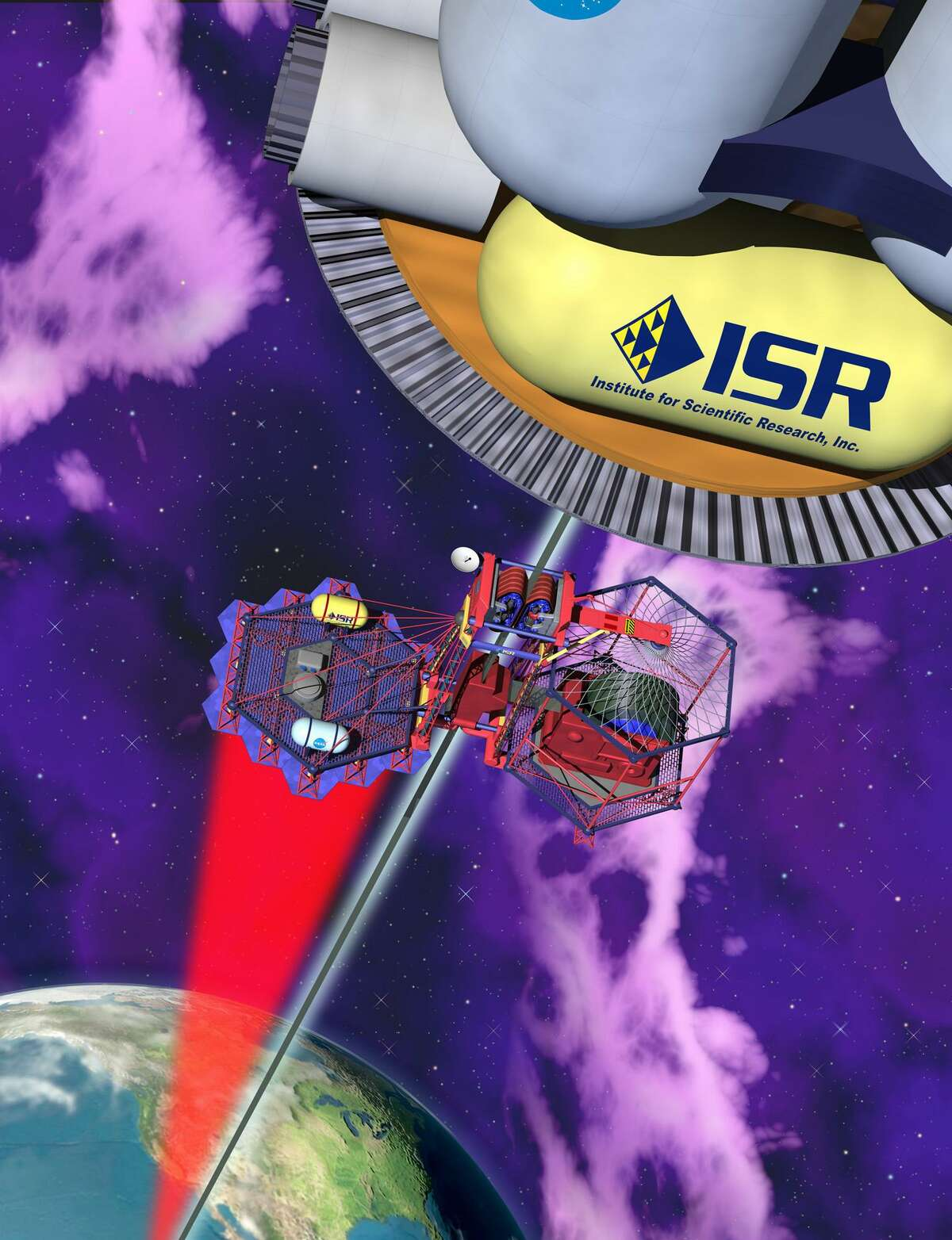 An artist rendering of the proposed space elevator is shown in this undated image released by the Institute for Scientific Research.