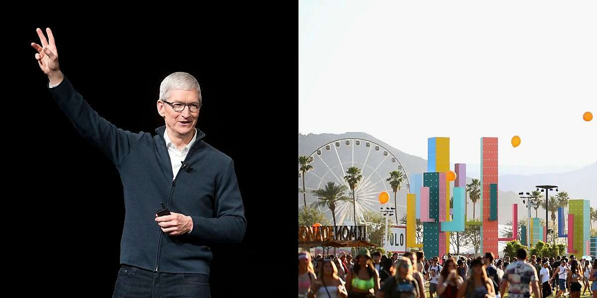 Tim Cook was among the throngs of attendees enjoying a concert at Coachella over the weekend.