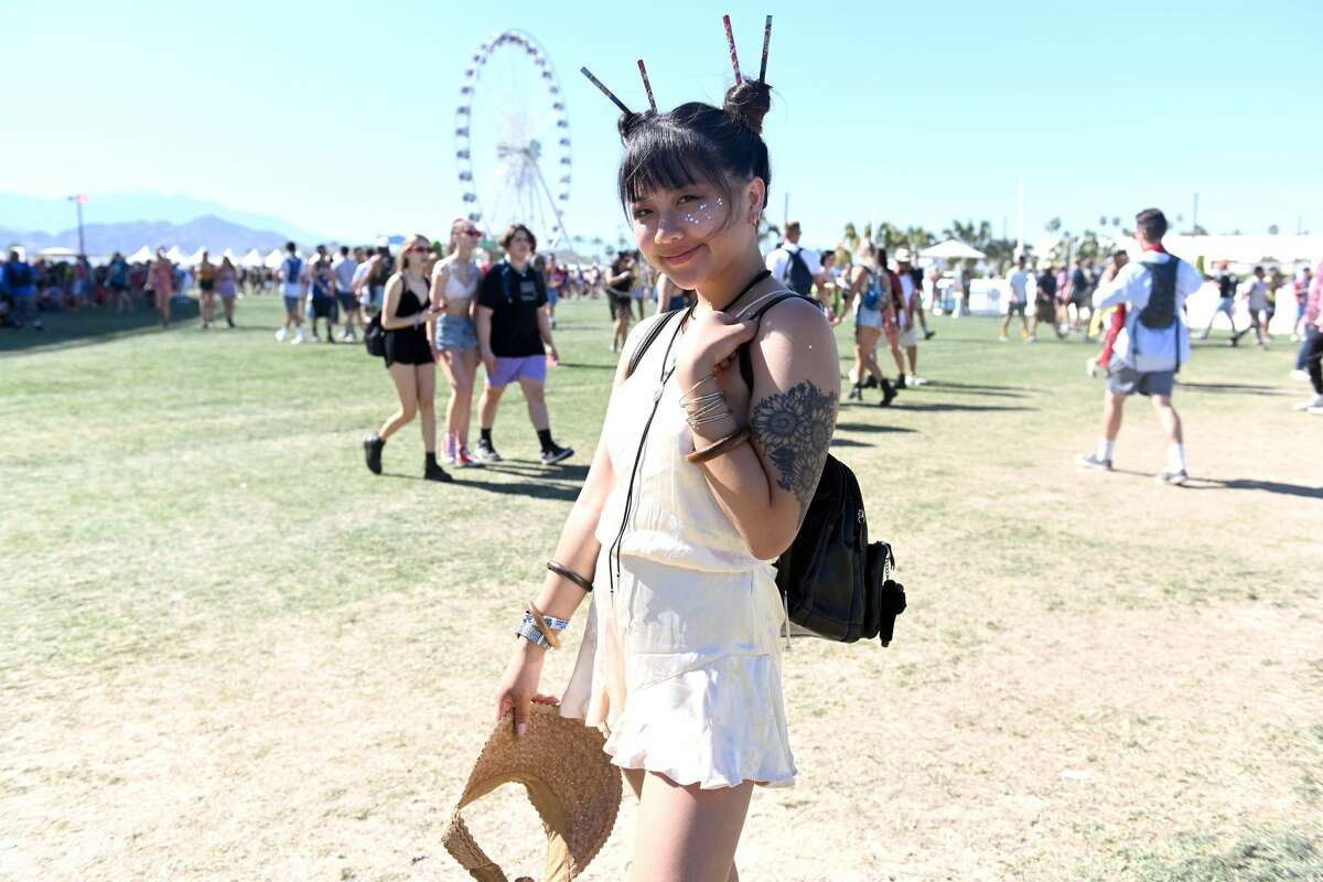 Fans attend Weekend 1, Day 2 of the Coachella Valley Music and Arts Festival on April 13, 2019 in Indio, Calif.