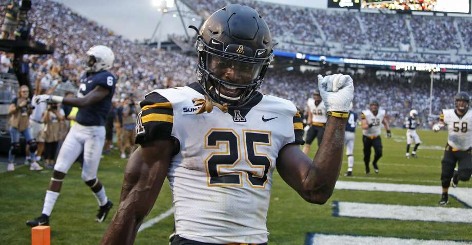 STATE COLLEGE, PA - SEPTEMBER 01:  Jalin Moore #25 of the Appalachian State Mountaineers in action on September 1, 2018 at Beaver Stadium in State College, Pennsylvania.  (Photo by Justin K. Aller/Getty Images) Photo: Justin K. Aller/Getty Images