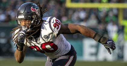 af1cd08d293638 23, 2018, file photo, Houston Texans outside linebacker Jadeveon Clowney  moves toward the action during an NFL football game against the  Philadelphia Eagles ...