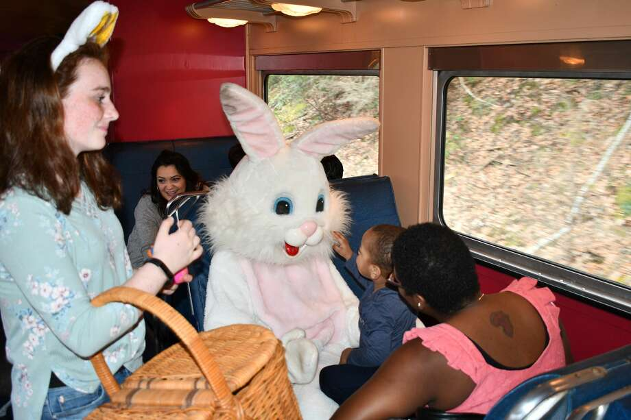 The Railroad Museum of New England in Thomaston, Ct, hosted the Easter Bunny Express, railway leading up to Easter. Were you SEEN riding along the Naugatuck River with The Easter Bunny on April 14, 2019? Photo: Lara Green- Kazlauskas/ Hearst Media