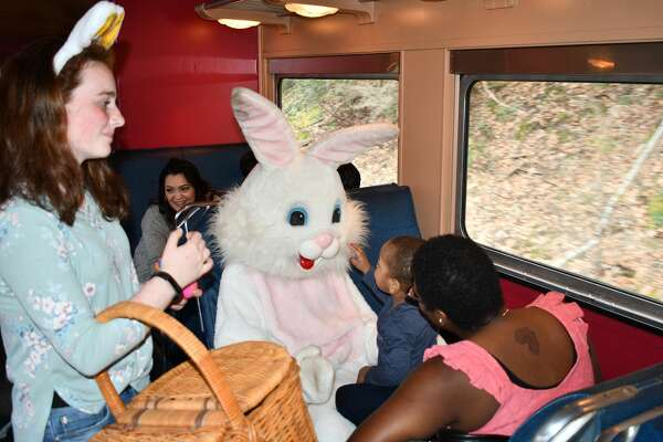The Railroad Museum of New England in Thomaston, Ct, hosted the Easter Bunny Express, railway leading up to Easter. Were you SEEN riding along the Naugatuck River with The Easter Bunny on April 14, 2019?