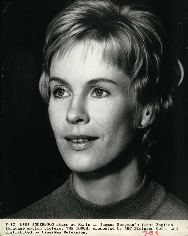 "Actress Bibi Andersson stars as Karin in Ingmar Bergman's first English language motion picture, THE TOUCH, presented by ABC Pictures Corp. and distributed by Cinerama Releasing. Bibl Andersson plays a married Swedish woman who becomes involved with American scientist Elliot Gould In ""The Touch,"" Ingmar Bergman's first film in English. It's current at the Gaylynn."