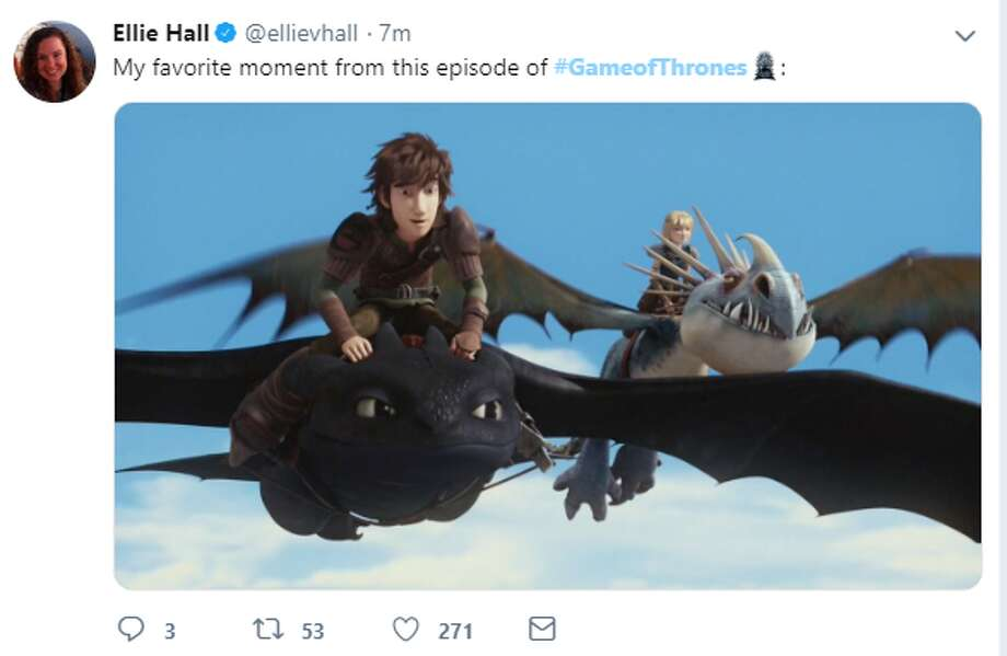 """My favorite moment from this episode of #GameofThrones:""
