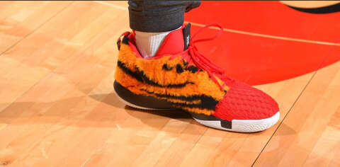 d97be67c68c4 Rockets  Chris Paul wears Tiger Woods-inspired sneakers for Game 1 ...