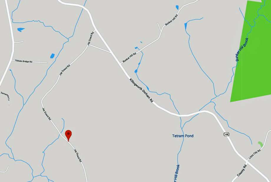 A portion of Route 148 in Killingworth is closed due to a house fire on Monday, April 15, 2019, according to the state Deparment of Transportation. Crews are battling the blaze which in the area of Jay Dowd Road. Photo: Google Maps