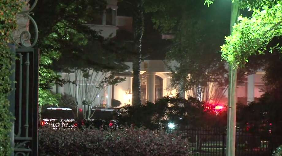 A fire broke out in a garage Sunday night at boxing legend George Foreman's house in the 29500 block of Martelly Way in northeast Harris County. Photo: Metro Video