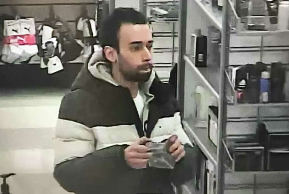 Hamden police are looking for a man accused of stealing fragrances from the T.J. Maxx on Dixwell Avenue Friday. Photo: Hamden Police Department