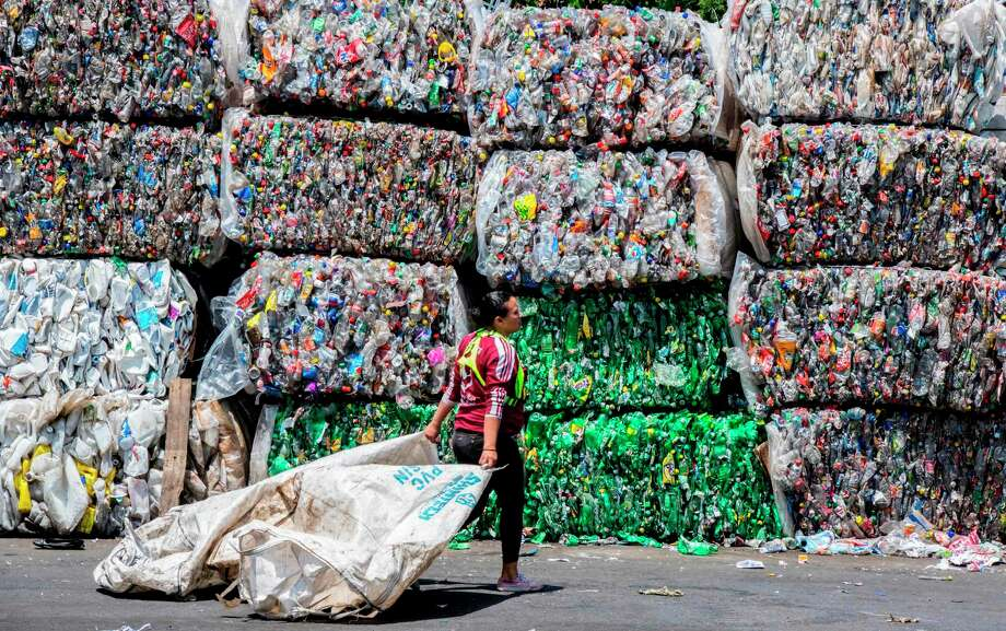 Most plastic waste ends up in landfills, incinerators of in the environment. The national recycling rate for plastic is about 9 percent, according to the latest data from the Environmental Protection Agency. Photo: EZEQUIEL BECERRA, Contributor / AFP/Getty Images / AFP or licensors