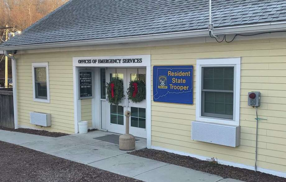 Headquarters of Sherman's resident state trooper. Photo: Contributed Photo / Sherman Resident Trooper