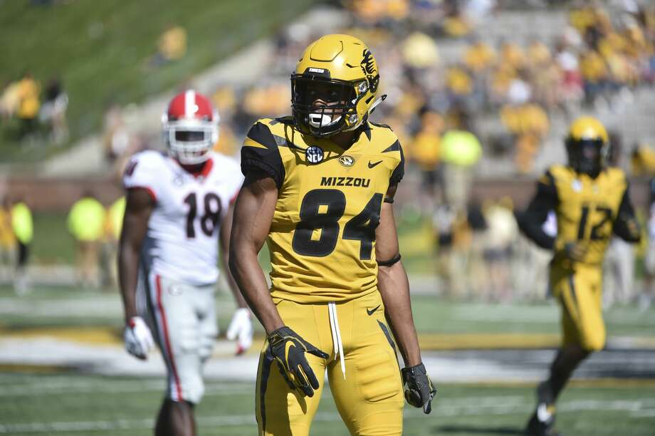 COLUMBIA, MO - SEPTEMBER 22: Wide receiver Emanuel Hall #84 of the Missouri Tigers in action against the Georgia Bulldogs at Memorial Stadium on September 22, 2018 in Columbia, Missouri. (Photo by Ed Zurga/Getty Images) Photo: Ed Zurga/Getty Images