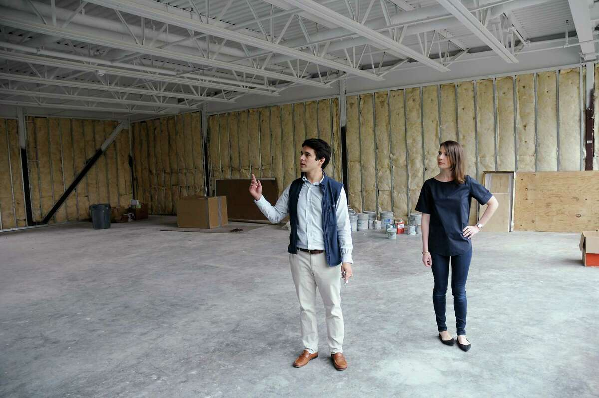 Developers Hilary and Steve Ybarra, principals of The Platform Investment Group at their newest development at 2132 Bissonnet Wednesday April 03, 2019. (Dave Rossman Photo)