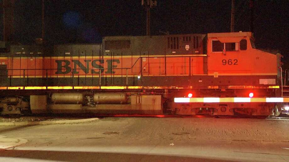 A man had head and back injuries after a train clipped him near the 200 block of Rivas Street. Photo: Ken Branca