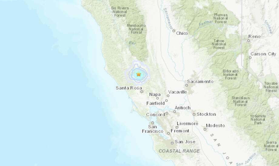 A magnitude 4.1 earthquakes struck near The Geysers, CA at 3:54 a.m. on April 15, 2019. Photo: USGS