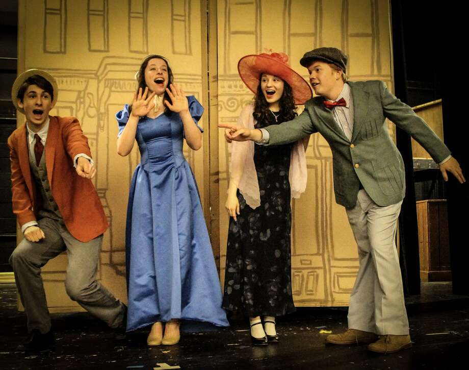 "Fairfield Ludlowe Drama Club cast members rehearse a scene from ""Hello, Dolly!"" Photo: Contributed Photo"