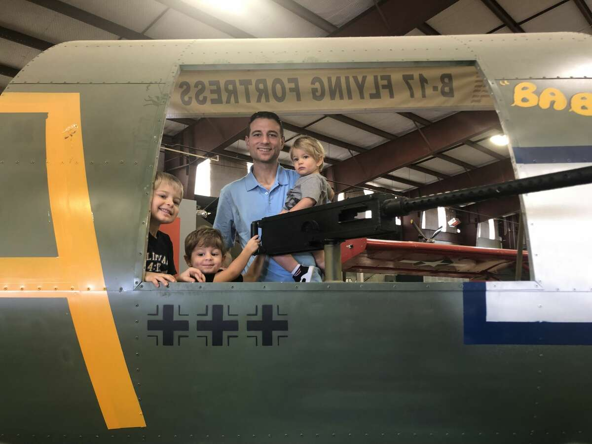 Open Cockpit Day: Ethan Mackinlay, from left, Isaac Mackinlay, Chris Mackinlay and Hudson Mackinlay