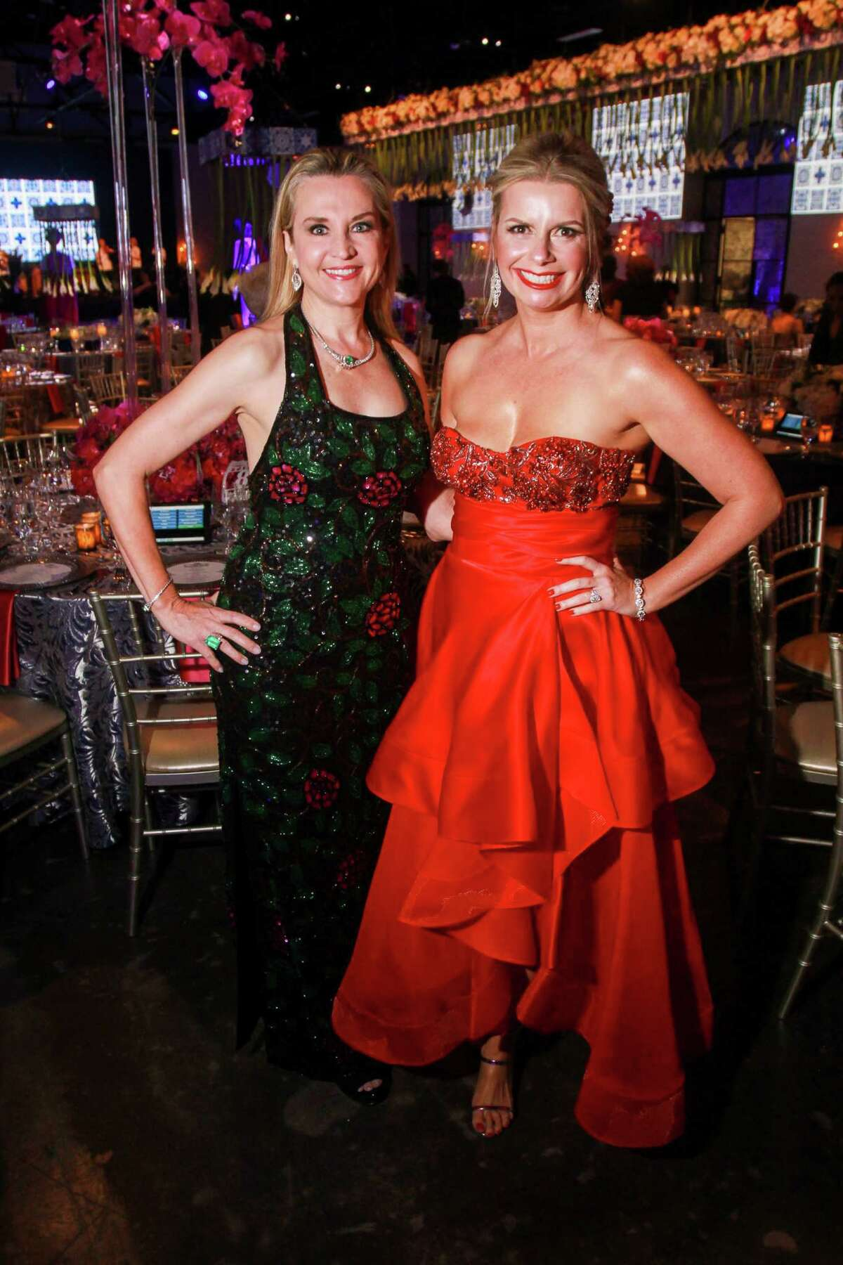 Mary D'Andrea, left, and Valerie Dieterich at the Opera Ball.