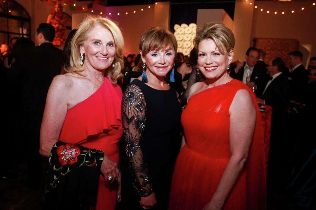 Denise Monteleone, from left, Gaye Lynn Zarrow and Kelley Lubanko at the Opera Ball.
