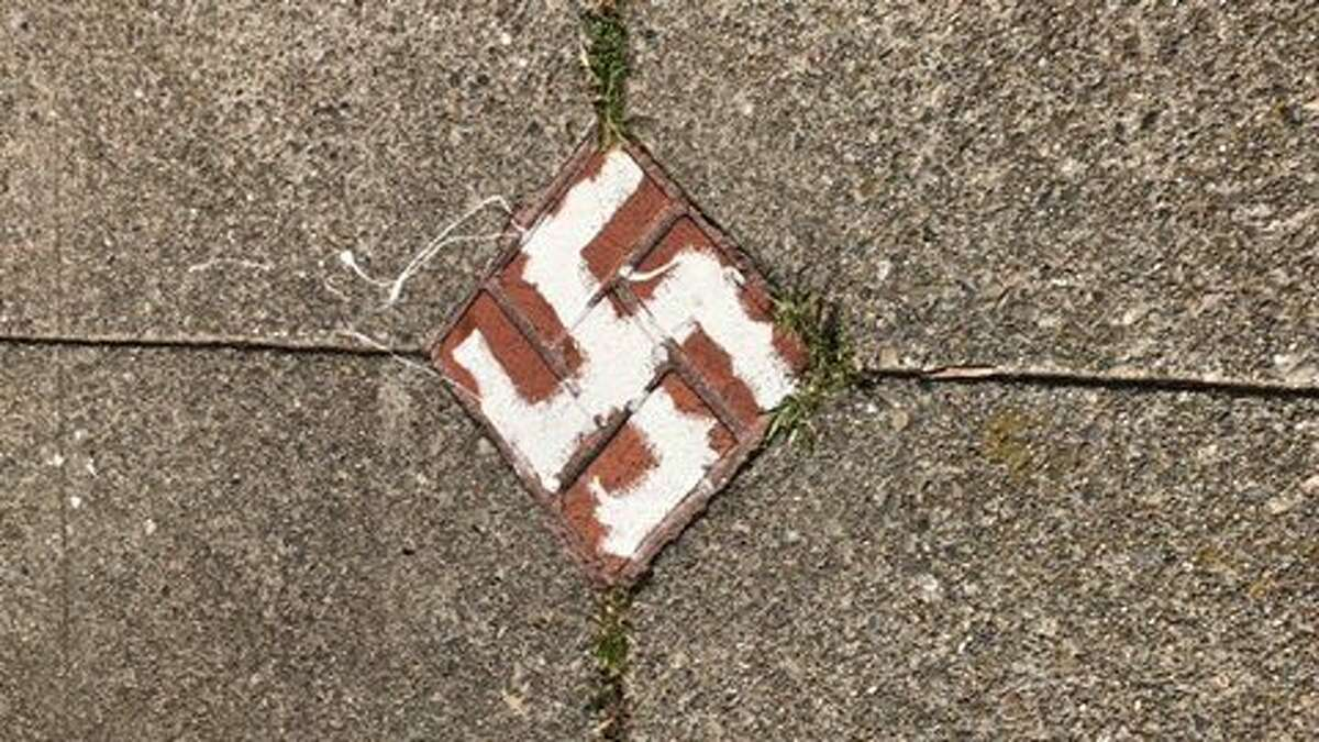 Someone scrawled numerous swastikas around Buena Vista Park in San Francisco.