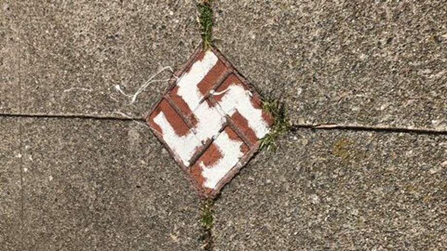 Someone scrawled numerous swastikas around Buena Vista Park in San Francisco. Photo: Courtesy: Max Szabo