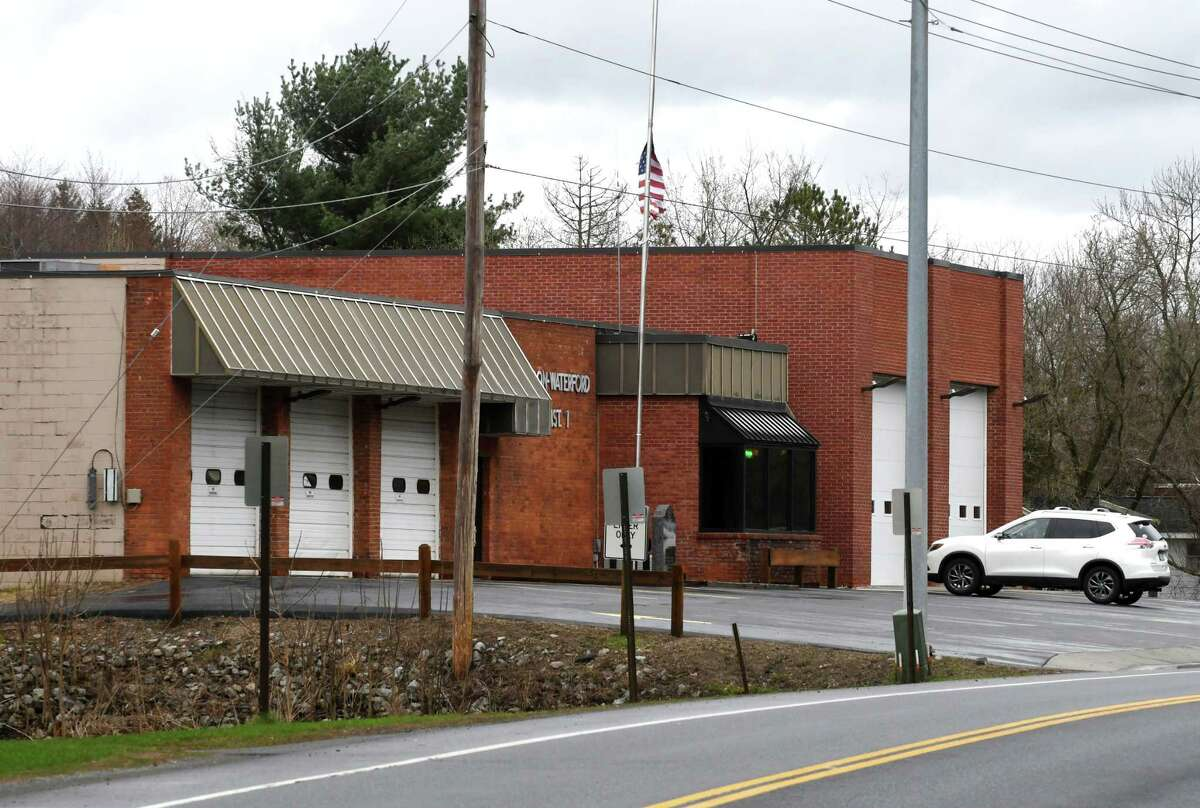 Exterior of the Halfmoon-Waterford fire station on Monday, April 15, 2019, in Waterford, N.Y. (Will Waldron/Times Union)