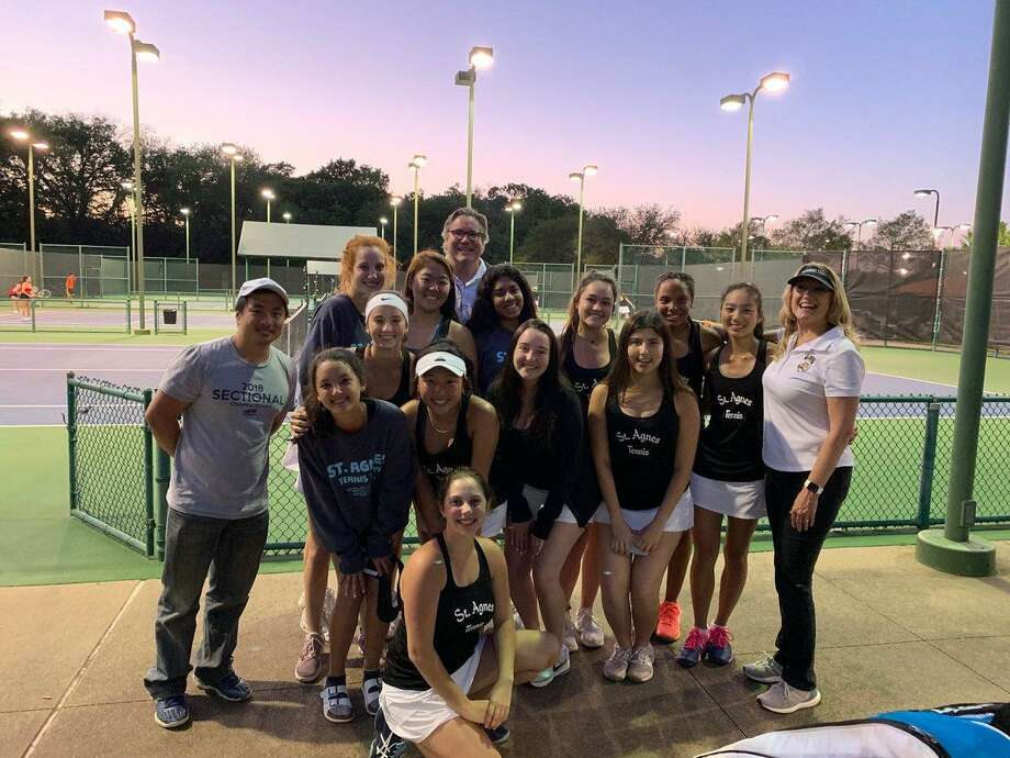 The St. Agnes Academy tennis team won its seventh consecutive TAPPS state championship April 9-10 at the Waco Regional Tennis Center. The Tigers scored 29 points, 10 more than the rest of the field. Photo: St. Agnes Academy / St. Agnes Academy