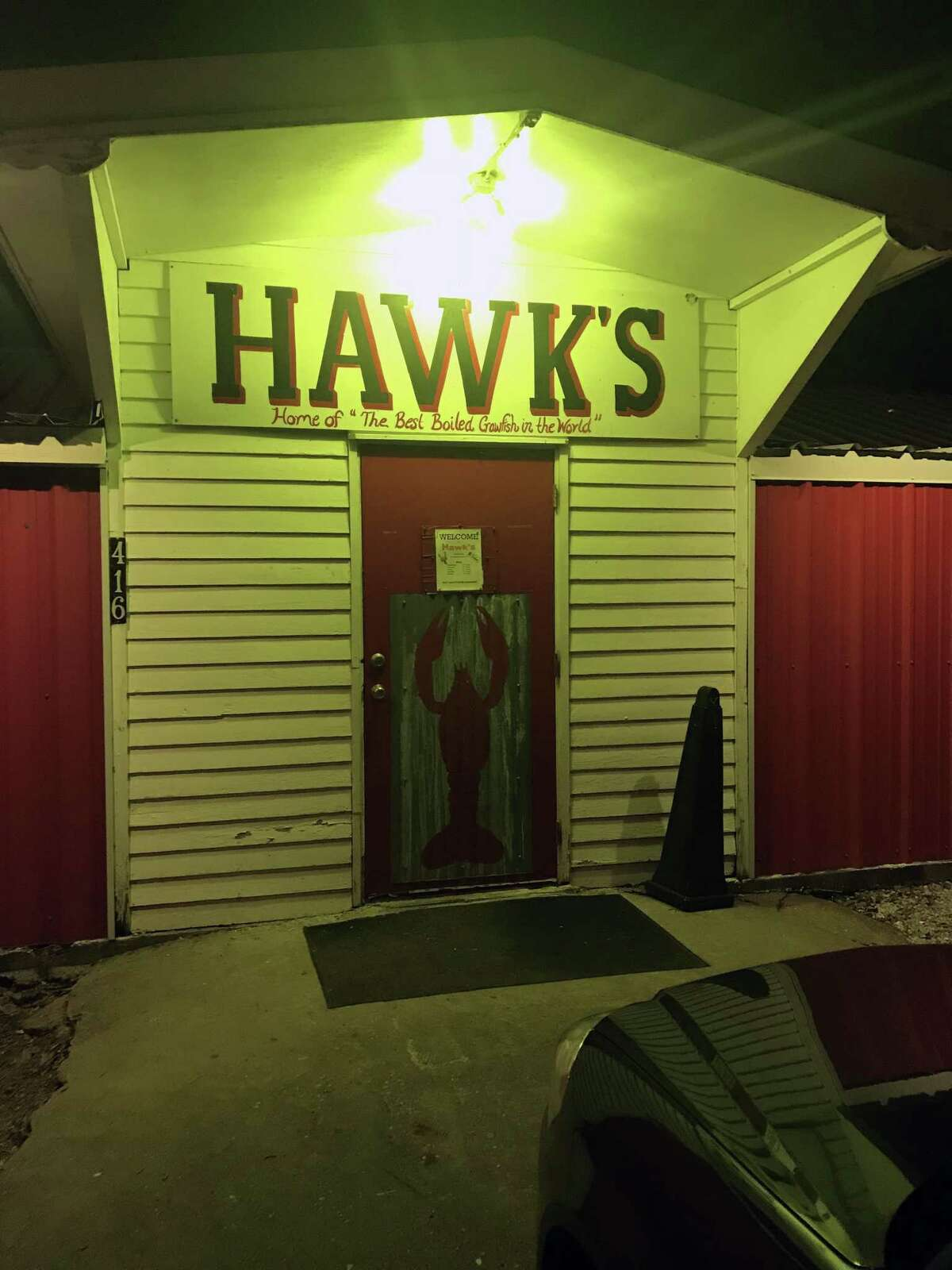 Hawk's restaurant in Rayne, La.