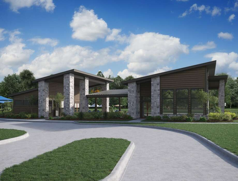 A rendering of the LakeHouse amenity complex in Trendmaker Homes new LakeHouse community in Katy. Photo: Trendmaker Homes