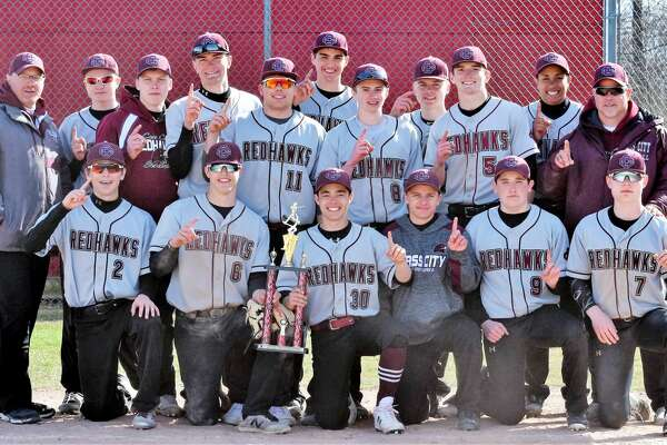 p.p1 {margin: 0.0px 0.0px 0.0px 0.0px; line-height: 10.8px; font: 10.0px Helvetica} The Cass City baseball team poses after winning the Thumb Invitational, Saturday, in Millington. The Red Hawks didn't allow a run in three games.