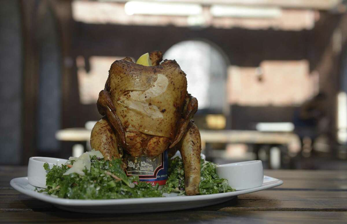 A finished beer can chicken tastes great, but it's not because of the beer.