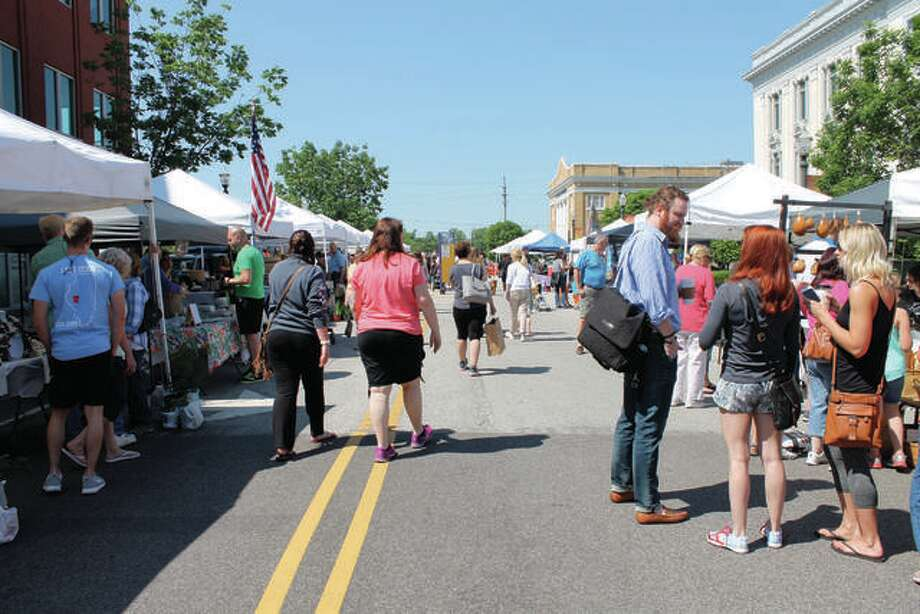 A sunny scene from a previous Land of Goshen Community Market.
