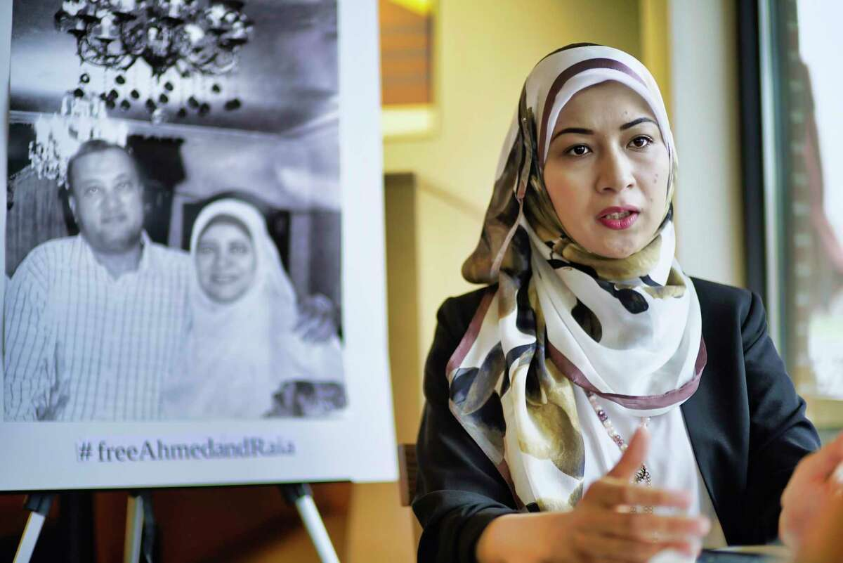 Sohayla Mahmoud talks about her parents, who have been detained by the Egyptian government, during an interview on Monday, April 15, 2019, in Glenmont, N.Y. (Paul Buckowski/Times Union)