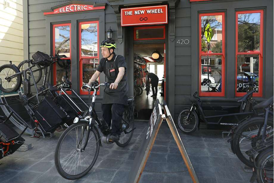 New Wheel, which sells and advocate for electric bikes, on Cortland Avenue in Bernal Heights. Photo: Liz Hafalia / The Chronicle