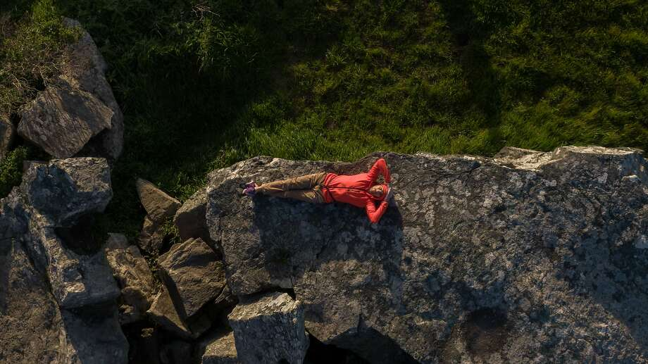 Kevin Jorgeson at the Sunset Boulders near Goat Rock Beach. Photo: Paul Kuroda / Special To The Chronicle