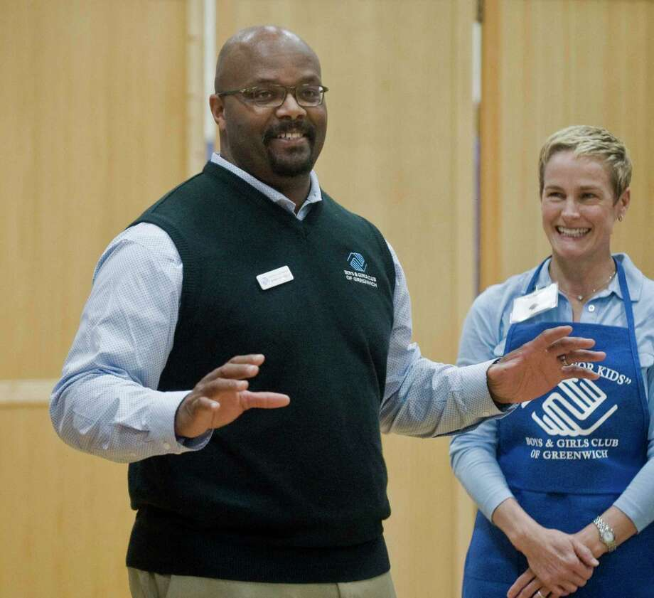 Bobby Walker Jr., CEO of the Boys and Girls Club of Greenwich, seen here at the club's annual Thanksgiving feast, will be honored by the Greenwich International Film Festival with its Community Changemaker award. Photo: Scott Mullin / For Hearst Connecticut Media / The News-Times Freelance