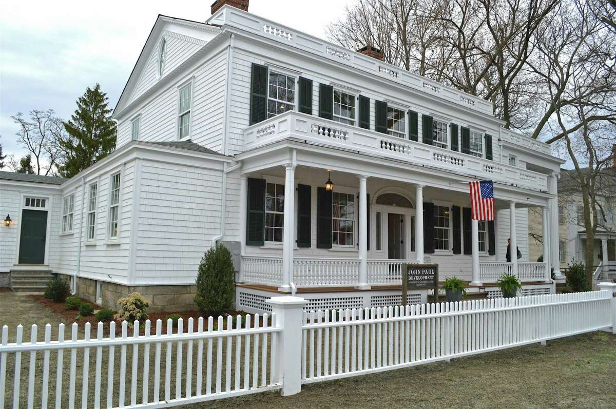 The renovated Sherman Parsonage at 480 Old Post Road at an open house on Thursday, April 11, 2019, in Fairfield, Conn.