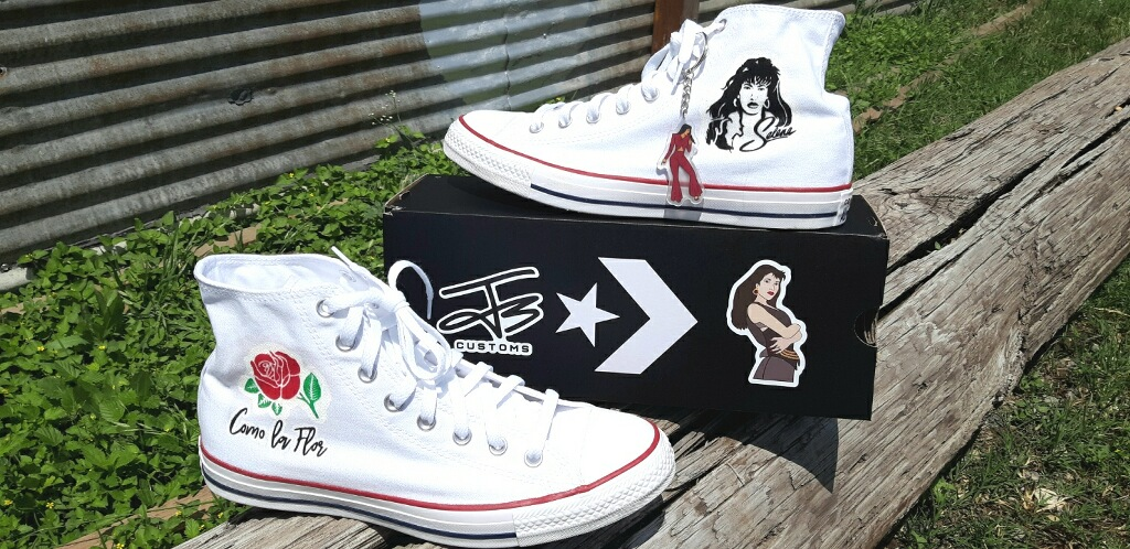 d4020ad9163e Kicks with  pride   Custom Selena Converse Chuck Taylor All Star made for  Fiesta de la Flor