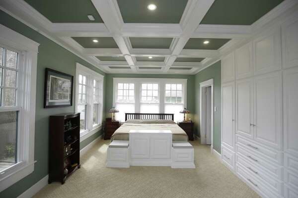Detailed ceiling treatment crowns master bedroom project in ...