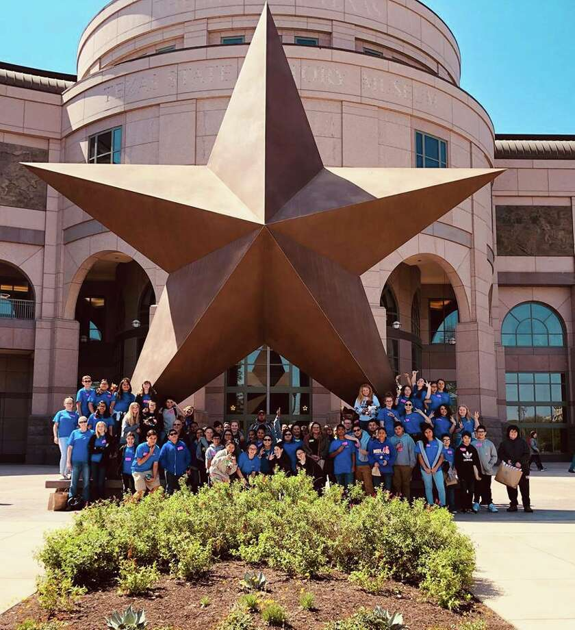 Midland ISD seventh-graders during a recent trip to the Bullock State History Museum in Austin. Photo: Courtesy Photo