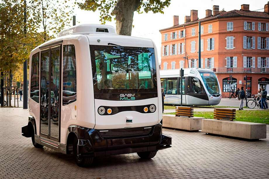 EasyMile was founded in 2014, The company says it has deployed over 210 driverless projects with more than 320,000 people transported over 250,000 kilometers. Photo: EasyMile / Contributed Photo